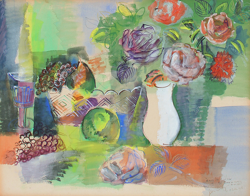 JEAN DUFY    Nature Morte   Oil on panel 17½ x 21¾ inches (44.5 x 55.2 cm)  SOLD