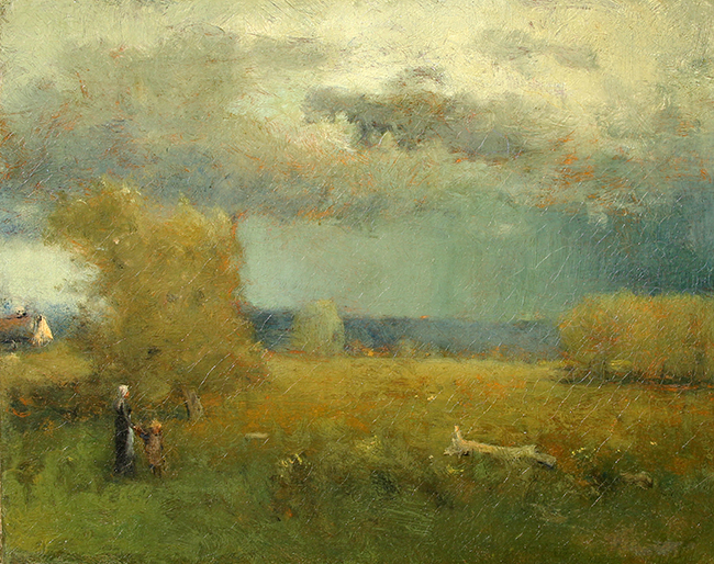 GEORGE INNESS    After the Storm    Oil on canvas 16 1/4 x 20 inches (41.2 x 50.8 cm)  SOLD