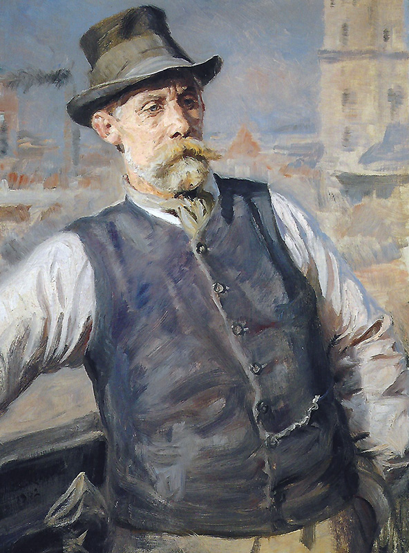 PEDER SEVERIN KRØYER Portrait of H. Kroner at the Copenhagen City Hall Oil on canvas 36 x 26½  (91.5 x 67.3 cm.) SOLD