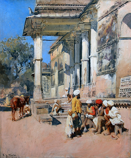 EDWIN LORD WEEKS  A Portico in Ahmedabad, India   Oil on canvas 21¾ x 18½ inches (55.2 x 47 cm.)  SOLD