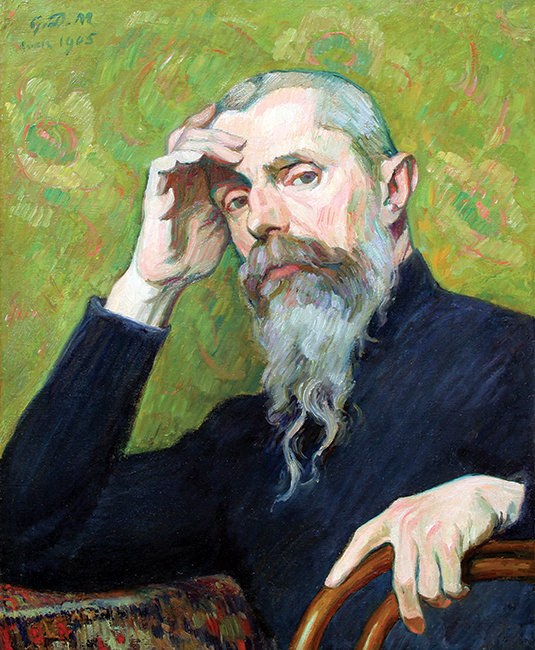 GEORGES DANIEL DE MONFREID  Self-Portrait  (1905)  Oil on paper laid down on canvas 23½ x 19½ inches (60 x 50 cm)  SOLD