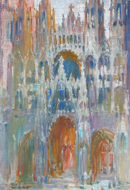 GINO EMILIO CONTI  Rouen Cathedral   Oil on canvas 29 x 20 inches (73.5 x 50.8 cm) $26,000 Click here for more information