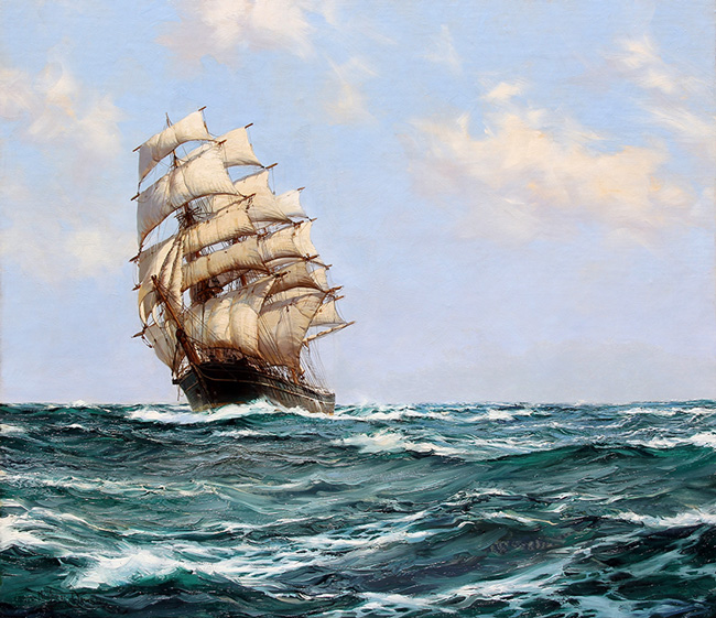 MONTAGUE DAWSON    A Clipper Ship on the High Seas   Oil on canvas 30½ x 34½ inches (77.5 x 87.5 cm)  SOLD