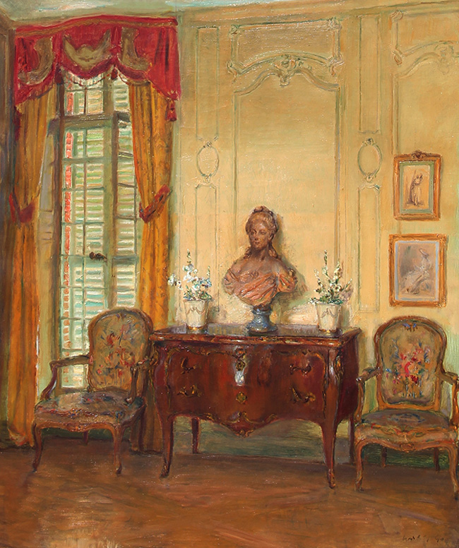 WALTER GAY The Salon, Château du Bréau Oil on canvas 22 x 18 inches (56 x 46 cm) P.O.R.