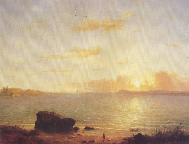 GEORGE INNESS  Phantom Sea   Oil on canvas 15 x 20 inches (38 x 50.7 cm.)  SOLD