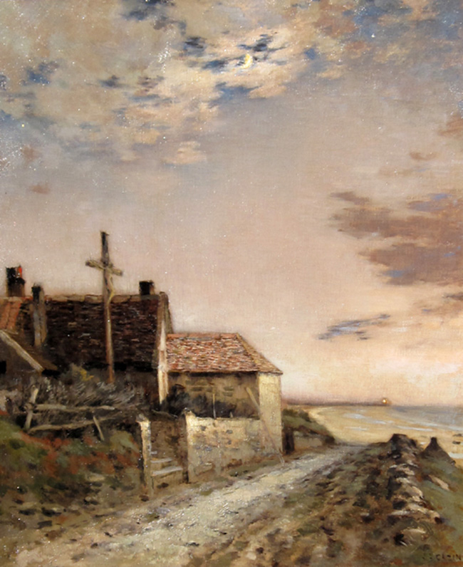 JEAN CHARLES CAZIN Road by the Sea Oil on canvas 22 x 18 inches (56 x 45.7 cm.) SOLD