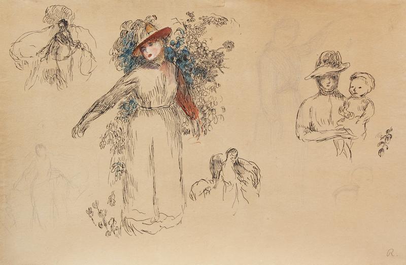 Pierre-Auguste Renoir - Etudes: Femme au Jardin