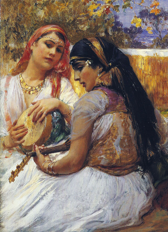 FREDERICK ARTHUR BRIDGMAN Recompenses Oil on panel 16 x 12 inches (40.6 x 30.4 cm) SOLD