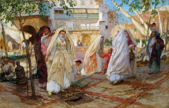 FREDERICK ARTHUR BRIDGMAN Après la Fête (1901) Oil on canvas 36 x 56 inches (91 x 142 cm) SOLD
