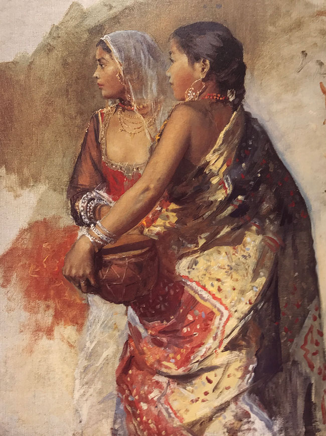 EDWIN LORD WEEKS    Two Nautch Girls   Oil on canvas 23 x 18¼ inches (58.5 x 46.3 cm.)  SOLD