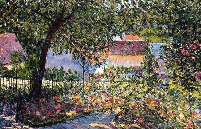 LÉON GIRAN-MAX Jardin Fleuri Oil on canvas 21¾ x 32 inches (54 x 81 cm) SOLD