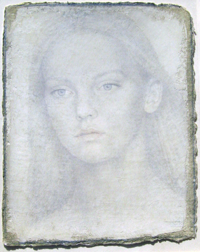 VIKTOR KOULBAK  Model, 2005   Silverpoint and watercolor on paper 12½  x 10 inches (31.4 x 25.4 cm.)  SOLD