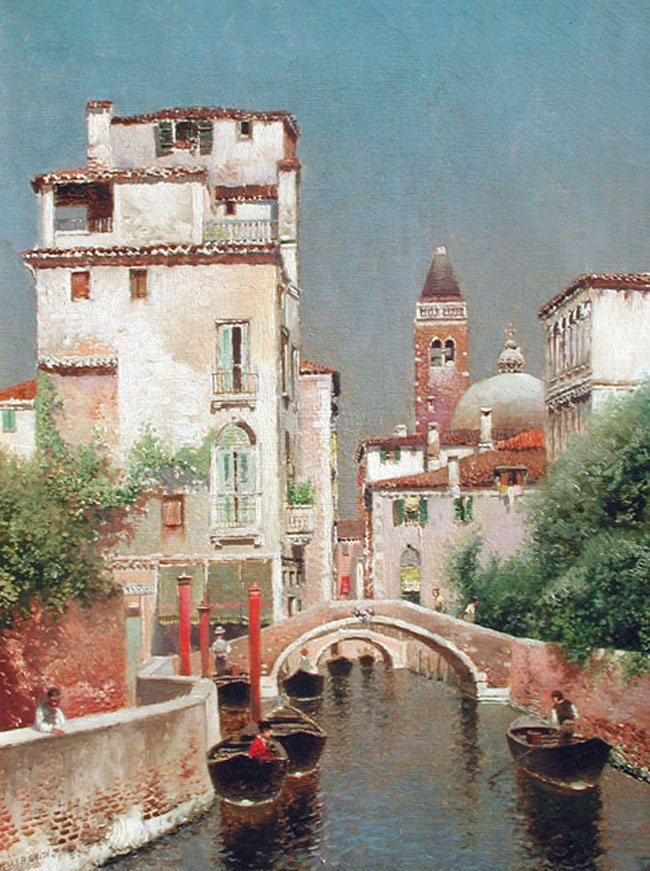 HENRY PEMBER SMITH A Venetian Canal Oil on canvas 16 x 12 inches (40.6 x 30.4 cm) SOLD