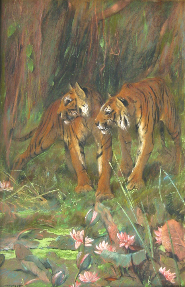 ARTHUR WARDLE Startled Pastel on board 23¼ x 15¼ inches (59 x 38.7 cm.) SOLD