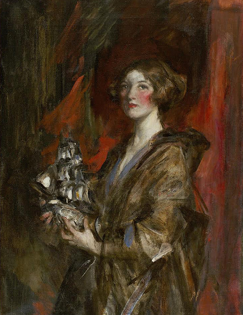 SIR JAMES JEBUSA SHANNON    Kitty and the Silver Ship   Oil on canvas 45¼ x 34½ inches (115 x 87.6 cm) $42,000 Click here for more information