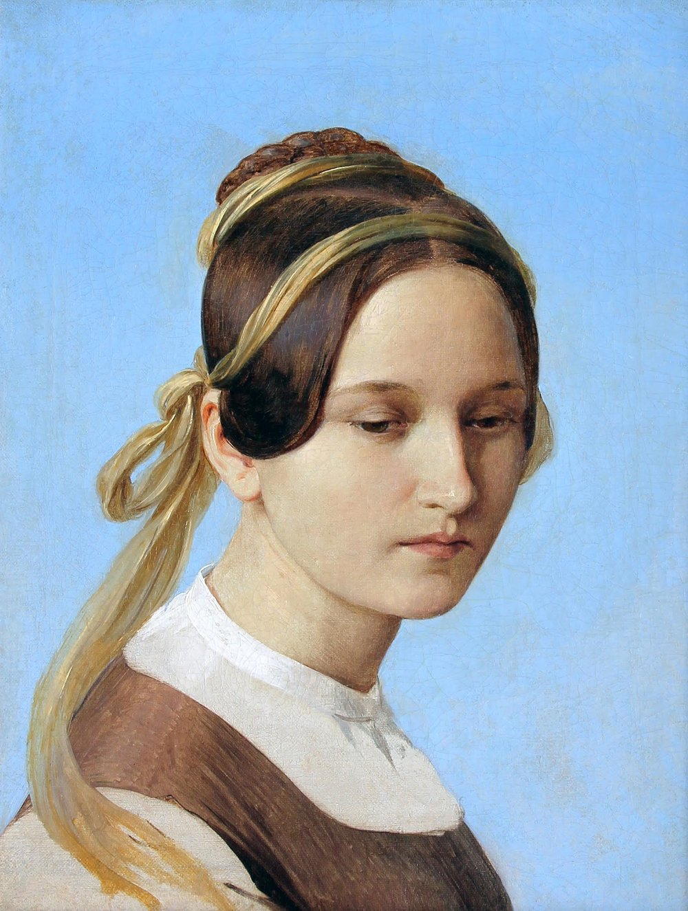 CARL FERDINAND SOHN Study for Disappointed Love Oil on canvas 16 x 12¾ inches (40.6 x 32.4 cm) $35,000 Click here for more information