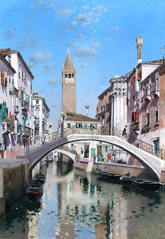 MARTÍN RICO Y ORTEGA Rio San Barnaba, Venice Oil on canvas 27½ x 19 inches (70 x 48 cm) SOLD
