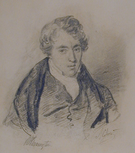 Portrait of Richard Parkes Bonington - By Alexandre-Marie Colin