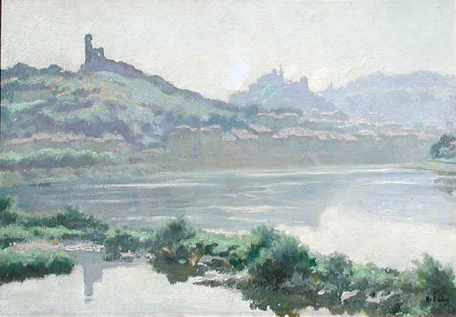 HIPPOLYTE LETY    Vienne de la Rhône, Matin d'été   Oil on masonite 15¼ x 21½ inches (55 x 70 cm) $3,400 Click here for more information