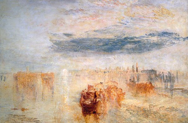 JOSEPH MALLORD WILLIAM TURNER    Venice, Evening - Going to the Ball, San Martino  (1845)  Oil on canvas 24 x 36 inches (61 x 91.4 cm)  SOLD