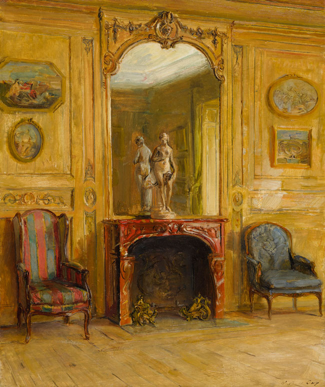 WALTER GAY  An Elegant Interior   Oil on canvas 22 x 18 inches (56 x 45.7 cm) $35,000 Click here for more information