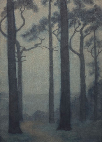 THOMAS BUFORD METEYARD    Mist, Hampstead Heath, Night   Watercolor on paper 15 x 11 inches (38 x 28 cm) $7,500 Click here for more information
