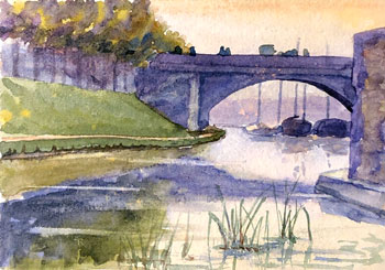 THOMAS BUFORD METEYARD    The Seine from Île de la Cité   Watercolor on paper 3½ x 5 inches (9 x 12.7 cm) $4,500 Click here for more information