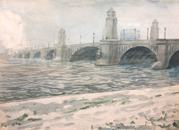 THOMAS BUFORD METEYARD    The Charles River, Boston  (recto)  Watercolor on paper 11 x 15 inches (28 x 38cm) $7,500 Click here for more information
