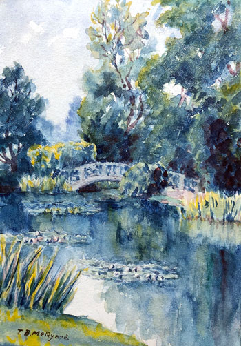 THOMAS BUFORD METEYARD    Monet's Garden, Giverny   Watercolor on paper 7 x 5 inches (17.7 x 12.6 cm) $6,000 Click here for more information