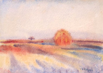 THOMAS BUFORD METEYARD    Haystack, Early Morning, Giverny   Watercolor on paper 5 x 7 inches (12.6 x 17.7 cm) $4,500 Click here for more information