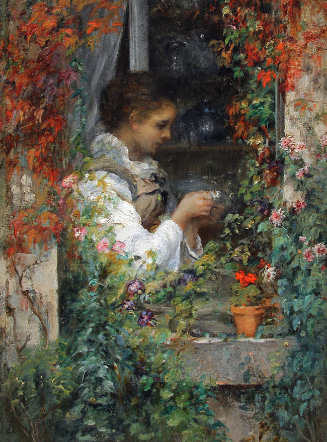Alfred Stevens | Girl in a Window
