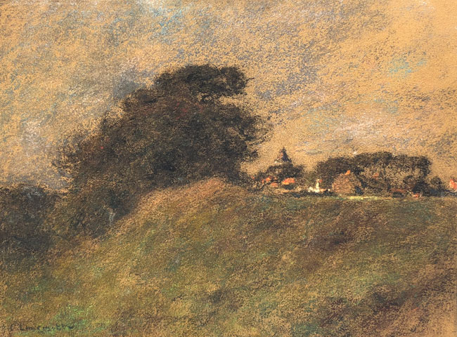LÉON AUGUSTIN LHERMITTE  Paysage Wissant   Pastel on paper 9¾ x 13 inches (24.6 x 33 cm.) $8,500 Click here for more information