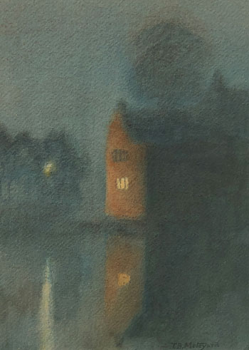 THOMAS BUFORD METEYARD    Fog, Rye   Watercolor on paper 15 x 11 inches (38 x 28 cm) $6,500 Click here for more information