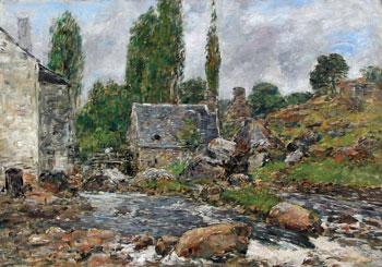 EUGÈNE BOUDIN (1824–1898)  Pont-Aven - La Rivière après la Pluie