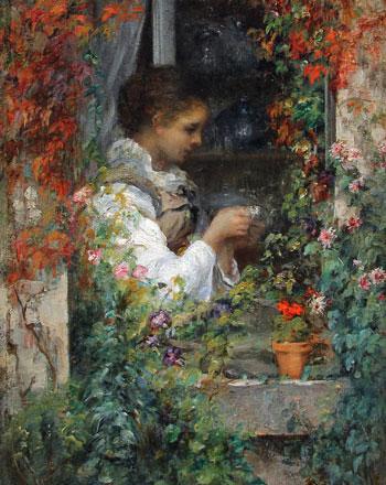 ALFRED STEVENS (1823–1906)  Girl in a Window