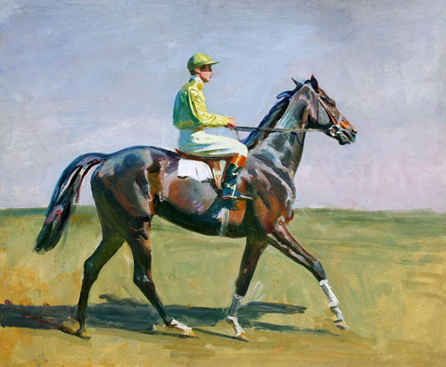 SIR ALFRED MUNNINGS (1878–1959)  Going to the Post