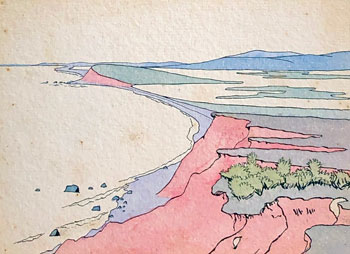 THOMAS BUFORD METEYARD    Scituate – Fourth from Second Cliff   Watercolor on paper 5 x 7 inches (12.7 x 17.8 cm) $4,500 Click here for more information