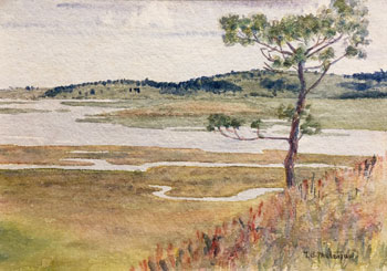 THOMAS BUFORD METEYARD    Scituate – North River, The Lone Pine   Watercolor on paper 5 x 7 inches (12.7 x 17.8 cm) $4,500 Click here for more information