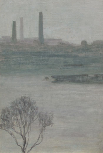THOMAS BUFORD METEYARD    Fog on the Thames   Oil on canvas 22 x 15 inches (56 x 38 cm) $15,000 Click here for more information