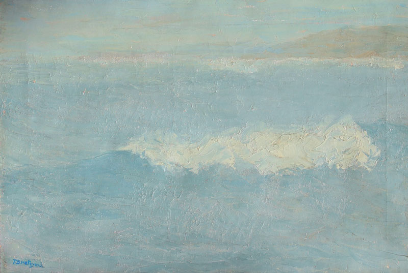 THOMAS BUFORD METEYARD    The Gray Wave   Oil on canvas 15 x 22 inches (38 x 56 cm) $9,500 Click here for more information