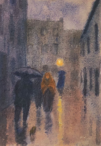 THOMAS BUFORD METEYARD    Wet Evening, Spain   Watercolor on paper 10 x 7 inches (25.3 x 17.8 cm) $4,500 Click here for more information
