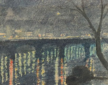 THOMAS BUFORD METEYARD    Charles River, Night, Boston   Watercolor on paper 5½ x 6¾ inches (14 x 17.3 cm) $4,500 Click here for more information