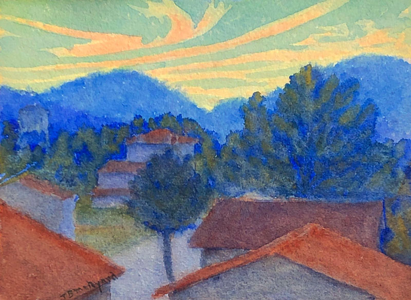 THOMAS BUFORD METEYARD    Cavalaire, Sunset   Watercolor on paper 5 x 7 inches (12.7 x 18 cm) $4,500 Click here for more information