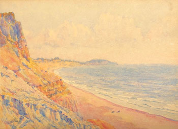THOMAS BUFORD METEYARD    Hengistbury Head, from Boscombe   Watercolor on paper 11 x 15 inches (28 x 38 cm) $6,500 Click here for more information
