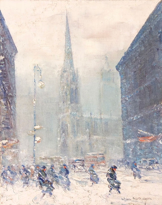 JOHANN BERTHELSEN  Grace Church, New York   Oil on canvas     20 x 16 inches (50.8 x 40.6 cm) $12,500 Click here for more information