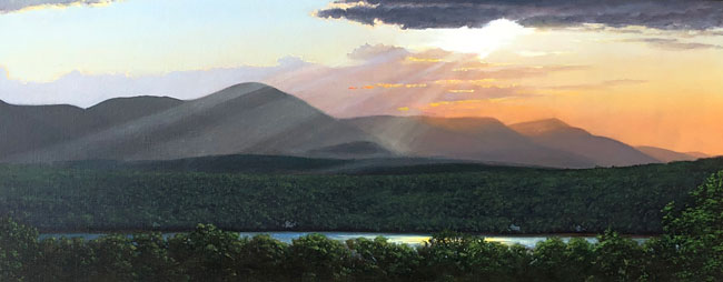 JOSEPH KEIFFER  Sunset over the Catskills   Oil on canvas 20 x 50 inches (50.8 x 127 cm) $6,500 Click here for more information