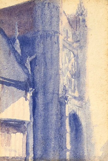 THOMAS BUFORD METEYARD    Vernon Church  (c. 1891-93)  Watercolor on paper 5 x 3½ inches (12.7 x 9 cm)  SOLD