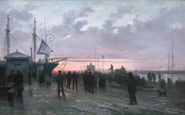 HENRI LOUIS SCOTT  Pont-tourné à Saint-François, Le Havre     Oil on canvas   39½ x 63 inches (100 x 160 cm) $75,000 Click here for more information