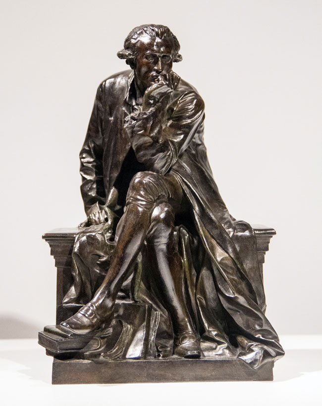AIMÉ JULES DALOU  Study for the Monument to Antoine-Laurent Lavoisier   Bronze, dark brown patina Height: 11¼ inches (28.6 cm) $7,500 Click here for more information