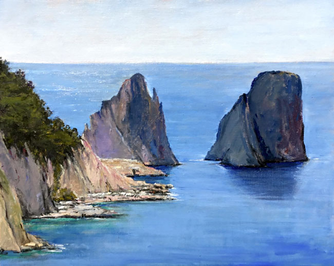EMILY BUCHANAN  Faraglioni Rocks, Capri   Oil on linen 16 x 20 inches (40.6 x 50.8 cm) $7,000 Click here for more information